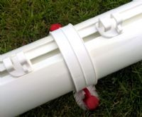 FOLDING GOAL - 80MM ALUMINIUM  - 12X6 - WITH REAR GROUND TUBE